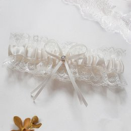 Wholesale Lace Bridal Garters Hot Sale Silk Ribbon Wedding Accessories New Coming Suspenders In Stock Birthday Gifts For Groomsman