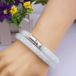 Wholesale 2015 New Infinity Bracelet Girls Vintage Stardust With Shining Micro Resin Crystal Beads Magnetic Clasp Weave Bracelets Antique Hot saling