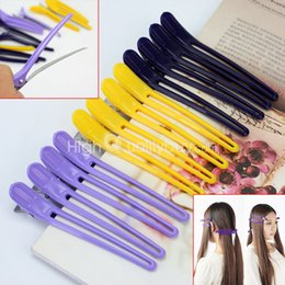 Wholesale 12x Plastic Metal Sectioning Clips Salon Hairdressing Styling Hair Accessory