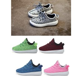 Wholesale Brand Design High Quality Kids Shoes yeezy boot Apring Autumn Knitted Casual Boys Shoes Girls Sneakers Children Shoes size