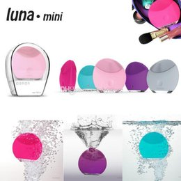 Wholesale 2014 HOT sale Foreo Luna Mini Ultrasonic Instrument Super Facial Cleaner Waterproof Charge Electric Lun Foreo colors DHL