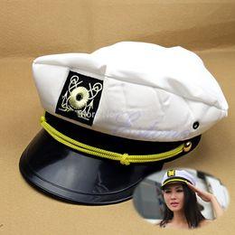 Wholesale L109Yacht Sea Captain Hat Skipper Sailor Boat General Cap Cosplay