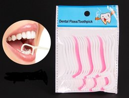 Wholesale 20PCS Pack Dental Floss Interdental Brush Teeth Stick Disposable Oral Hygiene Teeth Tooth Cleaning