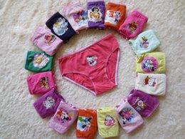 Wholesale EMS Free Cartoon Underwear Frozen Cat KT Mouse Princess Cotton Children s Briefs Boxers Girls Cute Underpants Panties Brief A1749