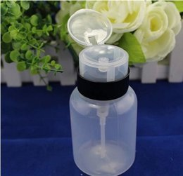 Wholesale Nail Art Pump Dispenser Polish Remover Cleaner Empty Bottle Makeup Plastic Nail Art Remover UV GEL Cleaner