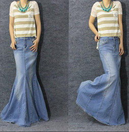 Where to buy long denim skirts online – Cool novelties of fashion ...