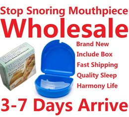 Wholesale 100 sets Anti Snoring Soft Silicone Mouth Tray Guard Mouthpiece Snore Stopper Better Breath Free Fedex EMS Ship