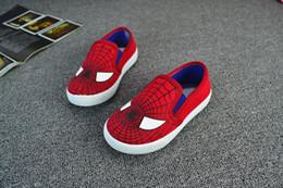 Wholesale 30 pares de zapatos de Spiderman Superman Chicos Cartoon niños Calzado deportivo Superhero niños zapatos zapatos niños zapatos de lona ocasionales para el muchacho
