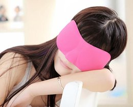 Wholesale 3D eye Sleeping Mask cotton Blindfold Soft Eye Shade Nap Cover Blindfold Sleeping Travel Rest Vision Care colors