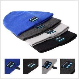 Música Bluetooth Sombrero suave de la gorrita tejida caliente con auriculares estéreo de auriculares Altavoz Micrófono inalámbrico V887 1904020