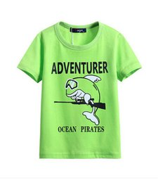 Wholesale Very comfortable new fashion T shirt striped summer new large child pure cotton T shirt