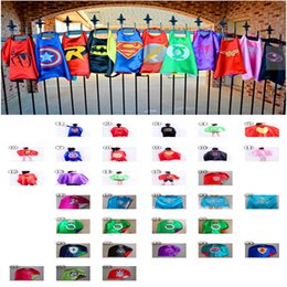 Wholesale 34Szie Spider man Supergir Spidergirl Frozen Transformers capes Double Layer boy Star Wars darth vader storm trooper yoda Ninja turtle capes