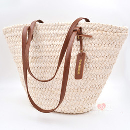 Discount Large Straw Beach Tote Bags   2017 Large Straw Beach Tote ...