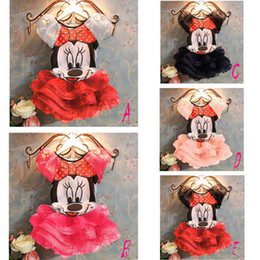 Wholesale Letty Baby Summer Children Baby Girls Dress Girls Mickey Minnie Mouse Clothing Sets Kds Cothes cotton Lovely Minnie