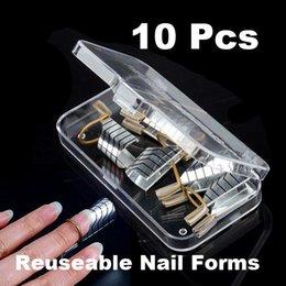 Wholesale Alta calidad x herramienta reutilizable Para Acrílico Formas de uñas Nail Art NVIE orden Nadie pista