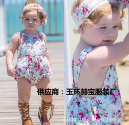 Wholesale NEW ARRIVAL baby girl kids infant toddler rose flower floral lace romper onesies jumpsuits bodysuits strap jumper Lace Camisole Leotard vest
