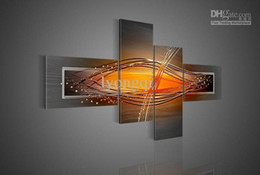 Orange Wall Art discount painting art modern | 2017 modern abstract wall art oil