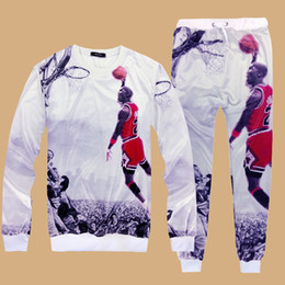 Wholesale Emoji Joggers Tracksuit for Men and Boy Michael Jordan Print White Basketball Outfit Fashion Men Joggers Sweatshirts Pants Tracksuits H95