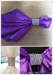 Wholesale Cheap Wedding Napkin Buckles Crystal Beading Pearl Rhinestone Wedding Decorations Wedding Chair Covers Sashes Caps Cheap In Stock