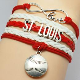 online shopping Infinity ST Louis Baseball Sports Bracelet styles choose Rugby friendship leather bracelets for gift customs