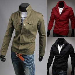 Military Green Casual Jacket Mens Online | Military Green Casual ...