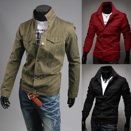 Wholesale Venta superior NUEVA chaqueta ocasional del equipo universitario de la universidad del estilo del cortocircuito de la lona de la alta calidad de los hombres para la chaqueta militar de la motocicleta de los hombres