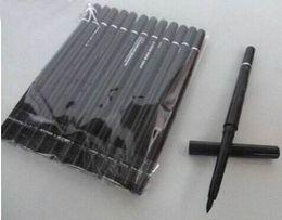 12pcs / lot FREE SHIPPING marca de maquiagem Rotary Retrátil Black Eyeliner Pen lápis Eye Liner