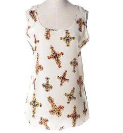 Wholesale FG1509 New Summer Style Women Chiffon Blouse Floral Printing blusas femininas Plus SIze blouses S XXL