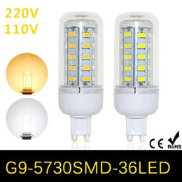 2017 free energy efficient light bulbs DHL G9 5730 220V Energy Efficient  Corn Bulbs Lamps 5730SMD