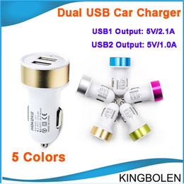 Universal Dual USB Car Charger Mini Car charger Adapter can for iphone 5 4 4S 6 Cell Phone Pad MP3 MP4 player mobile i9500 s3 DHL Free from adapter can suppliers
