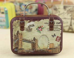 Wholesale 20pcs Retro Suitcase Candy Box Sweet Love Wedding Party Gift Jewelry Tin plate Boxes Mix Style New