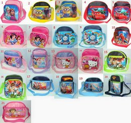 Wholesale Fashion Cartoon handbags Children messager bags cars Frozen Snow White Spider Man Despicable me Ben can choose style New and Hot