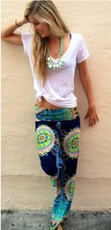Wholesale 2015 hot selling summer wommen pants casual high waist flare wide leg long pants palazzo trousers
