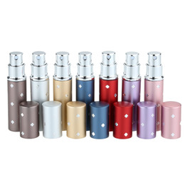 Wholesale 6ml Perfume Bottle Pump Pocket of Lotion Cosmetic Spray Bottle of Glass Liner Refillable Travel Atomizer W762