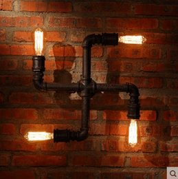 industrial lamp vintage wall light fixtures with 4 lights for home loft style edison wall sconcepipe lamp