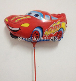 2017 car stories free ship 14inch story red car foil balloon within stick aluminium foil balloon