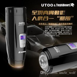 Wholesale UTOO Modes Electric Retractable Thrusting Male Automatic Masturbator Male Masturbation Sex Machine Sex Products for men Hot Newest