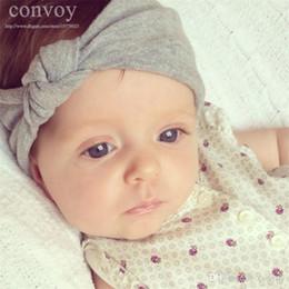 Wholesale Newborn Baby Girls Cotton Elastic Headbands Infant Kids Knot Headbands Hair Bands Children Headwear Hair Accessories KHA228