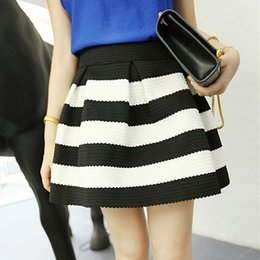 Black White Striped Midi Skirt Online | Black White Striped Midi ...