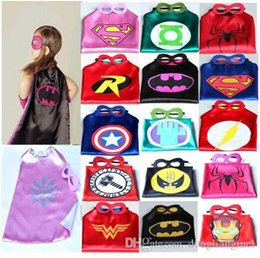Wholesale 30sets Superhero cape CAPE MASK cm back Super Hero Costume for Children Halloween Party Costumes for Kids Children s Costume Z636