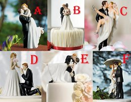 Wholesale 2015 Romance Wedding Favor and Decoration Figurine Resin Wedding Cake Toppers Personalized Cake Topper Bride Groom Wedding Supplies MYF46