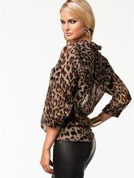 Wholesale 2016 Summer Women Blouse Shirt Leopard Fashion Chiffon Tops Leopard Shirt Women Leopard Blouse XXL