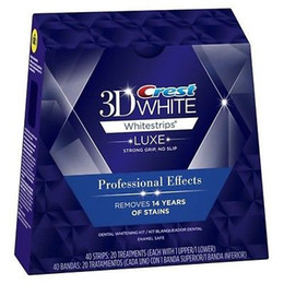 40 Bandes (20 Pochettes) / 1 Box Crest 3D Whitestrips Luxe Effets Professionnels White Whitening Teeth Strips