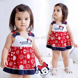 Free shipping! 2015 summer Minnie dress kid baby girl dress Dot Mickey dress Cartoons dress.Top quality!!Children clothes
