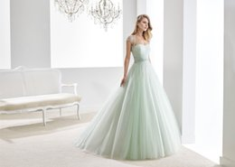 Wholesale 2016 Romantic Mint Tulle Pleated Strapless Sweet Vestidos de Quinceanera Dresses with Crystals Beads Waist Cute Beading Jacket JY315