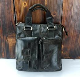 mens designer bags w62u  Hot New Mens Vintage Fashion Genuine Leather Bags Fashion Brand Designer  Handbags Shoulder Messenger Bags Briefcase For men inexpensive designer mens