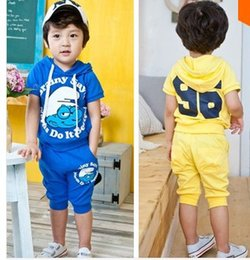 Wholesale summer kids cartoon clothing set children s sport suits