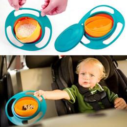 2 015 горячая Малыш доказательство чаша чаша Внутренняя вращается на 360 градусов в посудомоечной машине, Универсальный Детские гироскопа Шар вращающийся Летающая тарелка игрушки