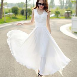 Wholesale New Hot Good Selling Ladies Women Casual Fashion Summer Beach Slim Chiffon Long Dress Clothes