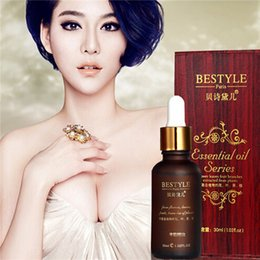 Wholesale BESTYLE SPA Breast Enhancement Oils Chest Enlarge Massage Essential Oil Improve Flat Firming Boobs Boost Beauty Women Skin Care